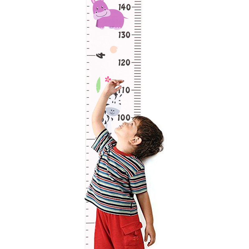 Wooden Wall Hanging Ruler Baby Kids Growth Height Chart Ruler Children Room Decor Girls Boys Child Wall Sticker Removable
