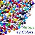 42 цвета на выбор! SS6 SS10 SS16 SS20 SS30 смешанные размеры DMC качественные стеклянные кристаллы горячей фиксации Стразы железные Стразы с бриллиантами - фото
