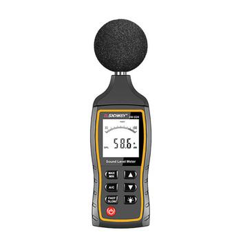 SW-524 USB cyfrowy miernik poziomu dźwięku przenośny miernik hałasu 6mm inteligentny czujnik ręczny miernik decybeli do komputera analizy danych tanie i dobre opinie SNDWAY 35 ~ 130dB audio meter 30~130dB lcd digital sound level meter 3*AAA Batteries ( not included ) SNDWAY SW-524 decibelmeter