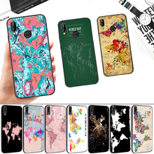 World Map Plans Special Silicone Soft Case for Huawei P8 P9 P10 P20 P30 Lite Pro P Smart Z Plus