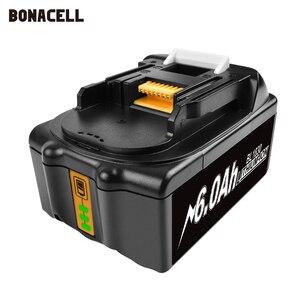 Image 2 - Bonacell 18V 4000 Mah BL1830 Lithium Accu Vervanging Voor Makita Boor LXT400 194205 3 194309 1 BL1815 BL1840 BL1850 L30