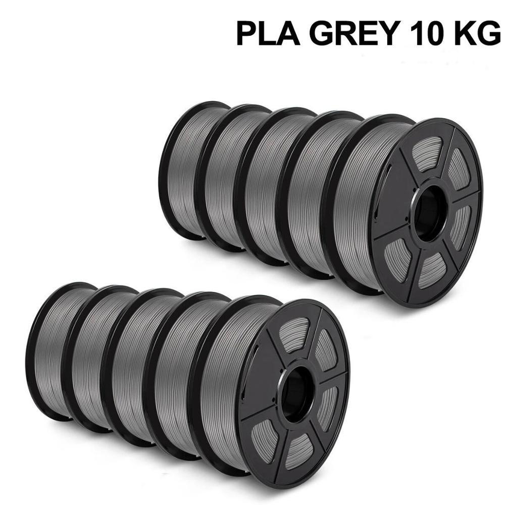 3D Printer Filament PLA 1kg 10rolls 1.75MM 2.2 LBS High Strength Printing Material for FDM 3D Printers 10kg Filaments Wholesale