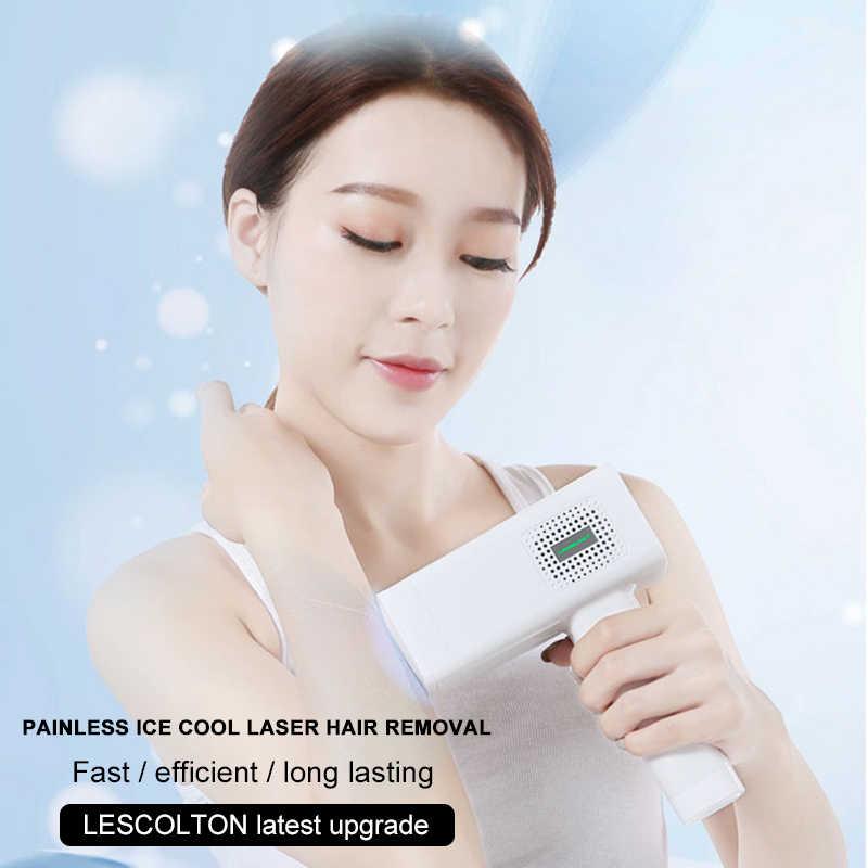 El más nuevo de 2020, depiladora IPL Lescolton 4 en 1, depiladora láser permanente para depilación, depiladora láser para rostro y brazos, axilas para Contorno de Bikini