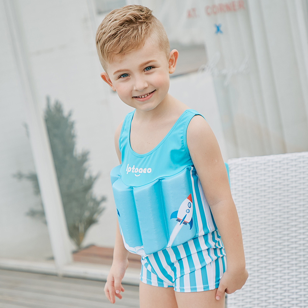 Sabolay One-piece CHILDREN'S Buoyancy Swimsuit CHILDREN'S Swimsuit Men And Women Children Tour Bathing Suit