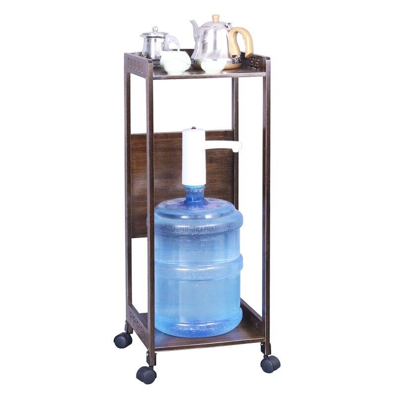 Brown drinking water rack bamboo rack storage rack wood printer kitchen rack table mobile
