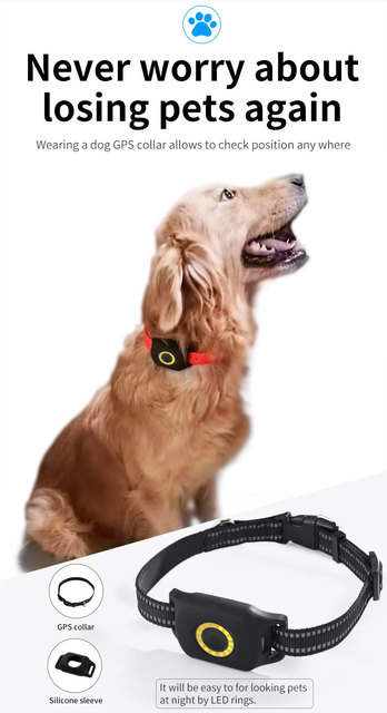 Waterproof 4G Pet Gps tracker Dog Mini Gps tracker Collar Security fence SOS Cat Anti-lost Alarm Tracking collar 6
