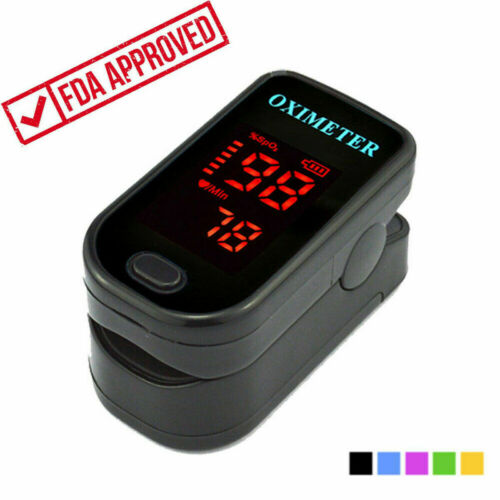 LED Finger Pulse Oximeter Blood SPO2 Oxygen Level PR Saturation Heart Rate Patient Monitor Party Favor  Pouch&Lanyard