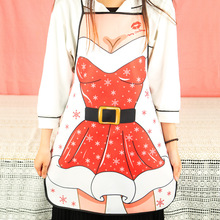 Christmas decoration articles exquisite fashion cloth Santa Claus sexy beauty 71X58CM apron christmas decorations for home