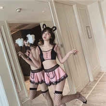 New sexy lingerie maid wear set role-playing mesh uniforms attractive night Exotic Costumes