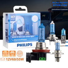 Philips-ampoules de phares de voiture | Halogène H4 H3 H1 H11 H8 HB3 9005 9006 diamant Vision 5000K, authentique blanc, 12V(China)