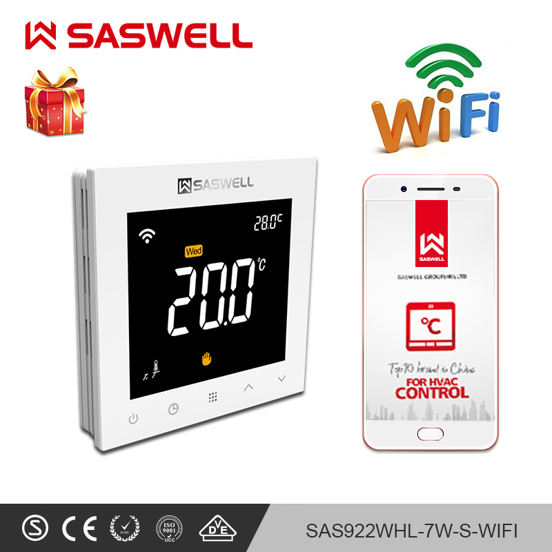 SASWELL WiFi Thermostat Temperature Controller Smartphone APP Water Floor Heating Programmable Thermoregulatort