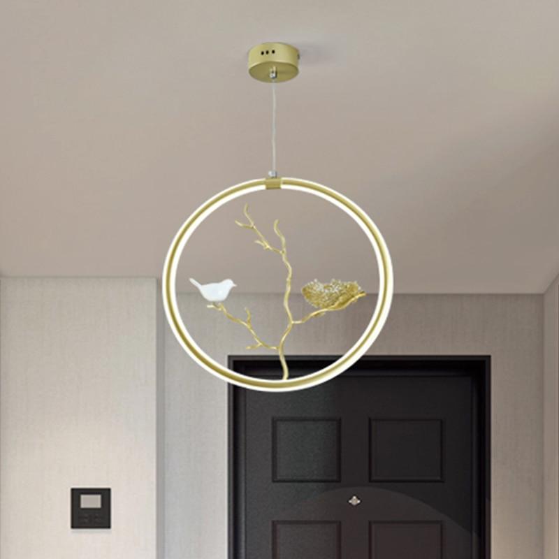Nordic Personalized Luxury Romantic Bedroom Living Room G4 Led Crystal Pendant Light Creative Dandelion Restaurant Pendant Lamp