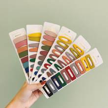 10 unidades/pacote simples doce cor geométrica grampos de cabelo feminino barrette grampos de cabelo meninas grampos de cabelo