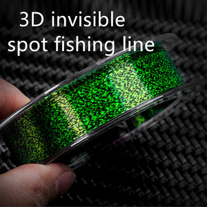 100m Invisible Fishing Line Speckle Carp Fluorocarbon Line Super Strong Spotted Line Sinking Nylon Fly Fishing Line 0.12-0.50mm