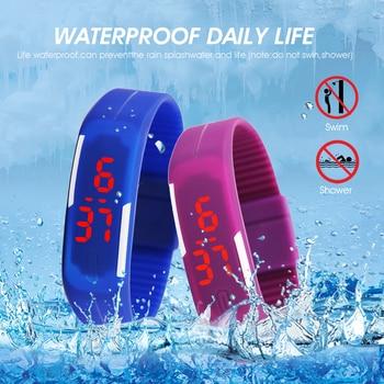 цена Men Women Watches Fashion Silicone Red LED Sports Bracelet Touch Digital Wrist Watch Electronic Wristwatches Clock dropshipping онлайн в 2017 году