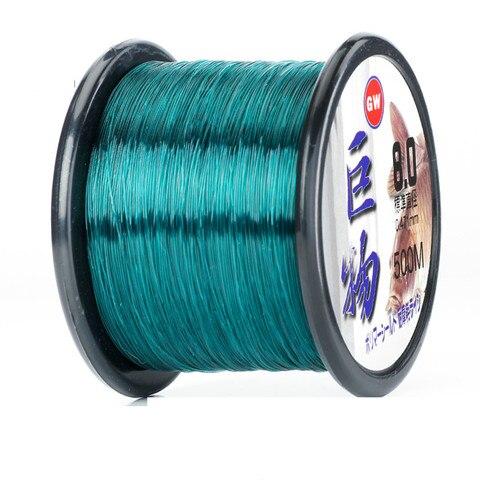 500m linha de pesca de nylon monofilamento de pesca da carpa pesca com mosca de