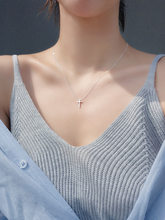 Exquisite attractive jewelry simple personality with cross alloy clavicle chain for fashion women gifts wholesale
