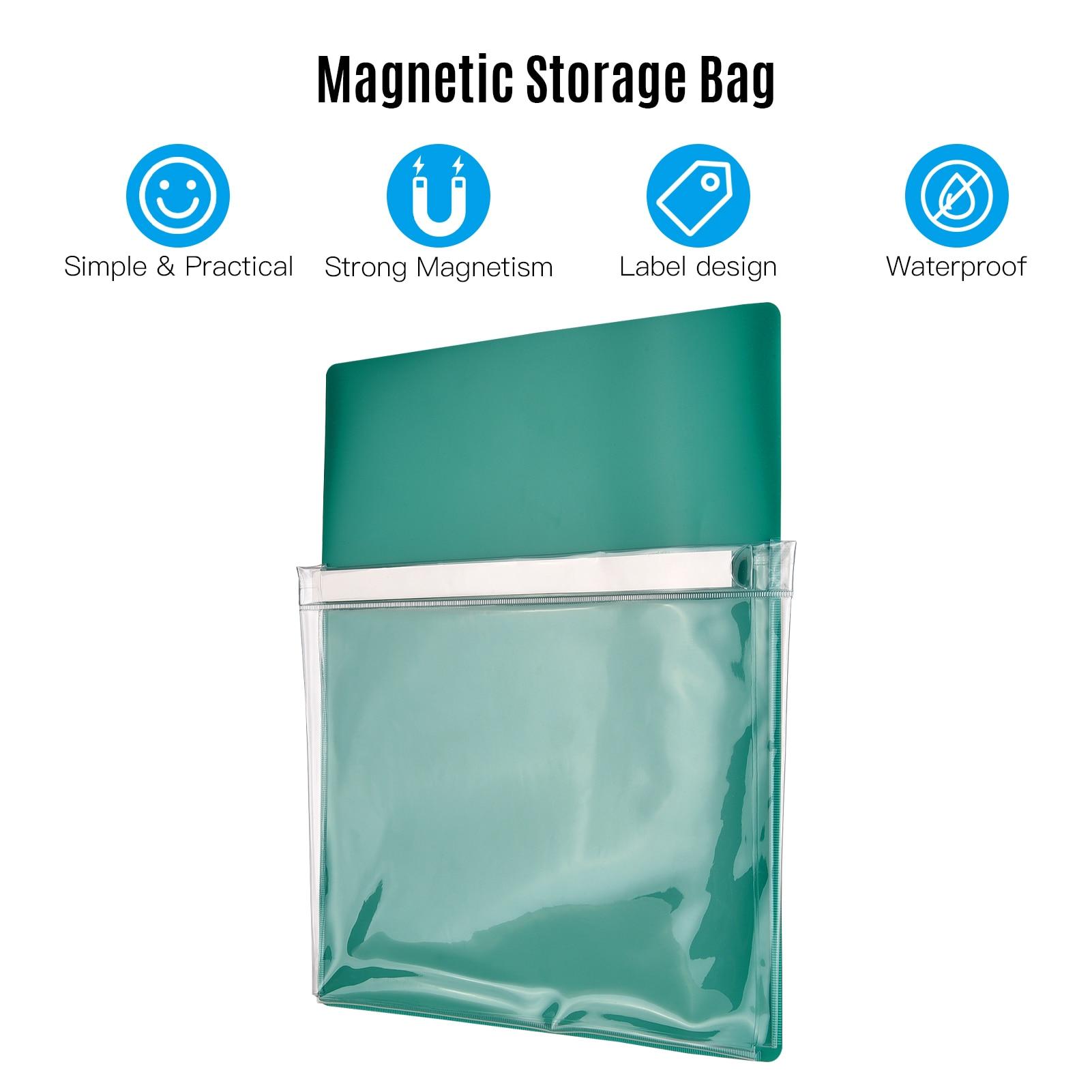 Magnetic Pocket Pen Holder Notebook Tools Accessories Storage Bag for Whiteboard Fridge Locker Cabinet