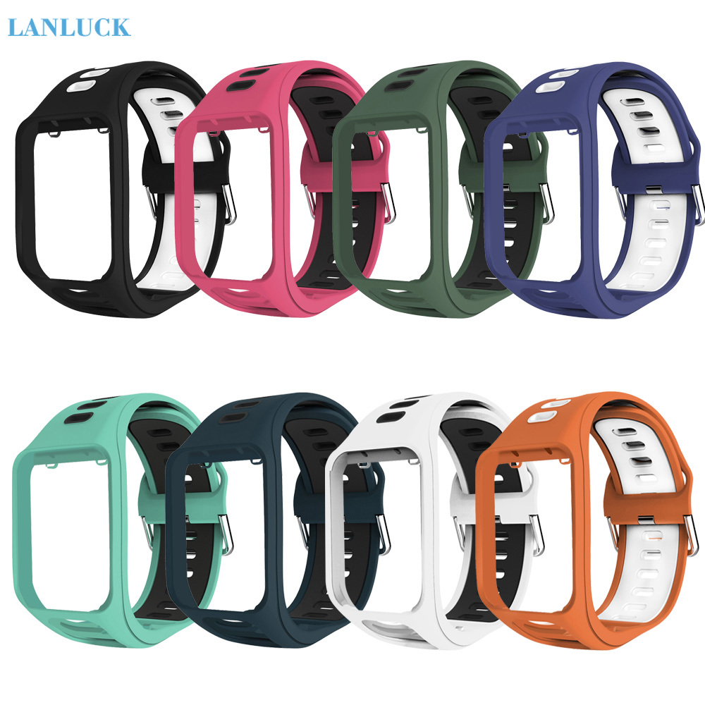 Wrist Band Strap For TomTom 2 3 Runner Spark Adventurer Golfer 2 Replacement Bracelet Soft Watchband Silicon Belt Watch Bracelet