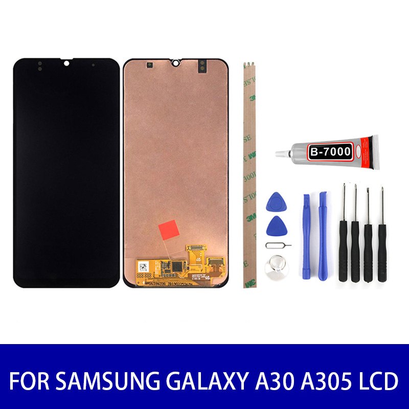 Original Super Amoled For <font><b>Samsung</b></font> <font><b>Galaxy</b></font> <font><b>A30</b></font> <font><b>Lcd</b></font> Display Touch Screen Panel Digitizer Assembly Screen Replacement Parts image
