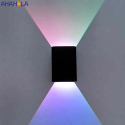 Modern Aluminum Art Deco Wall Led Light Up Down Indoor Lighting Wall Sconce Rgb Led Wall Lights with Remote Control Wandlamp