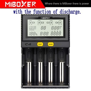Image 2 - Original Miboxer C4 VC4 LCD Smart Battery Charger for Li ion/IMR/INR/ICR/LiFePO4 18650 14500 26650 AA 3.7 1.2V 1.5V Batteries D4