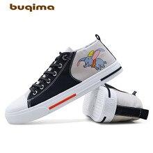 Buqima mens Zhongbang canvas shoes student sports belt flat with 39-44 yards