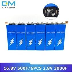 Diymore Super condensador de faradio 16,8 V 500F Ultracapacitor 6 uds 2,8 V 3000F rectificador automotriz con módulo de Placa de protección