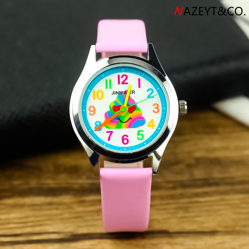 2019 New Arrived Children Fun Watch Little Boys Girls Cute Cartoon Jelly Wristwatch Kids Halloween Pu Leather Gift Clock