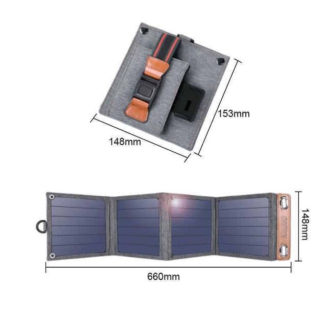 CHOETECH 5V 2.4A panneau solaire 22W pour iPhone 11 X XS dispositifs USB chargeur de sortie chargeur de téléphone panneaux solaires imperméables pour xi F7L7