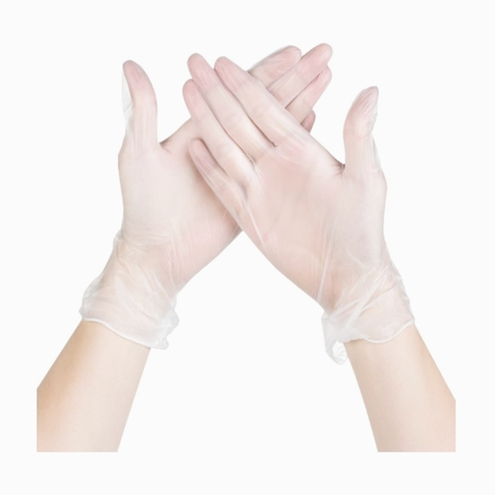 100 Pieces Disposable Transparent Latex Medical Gloves General Cleaning Work Finger Gloves Latex Protect Family Food Safety