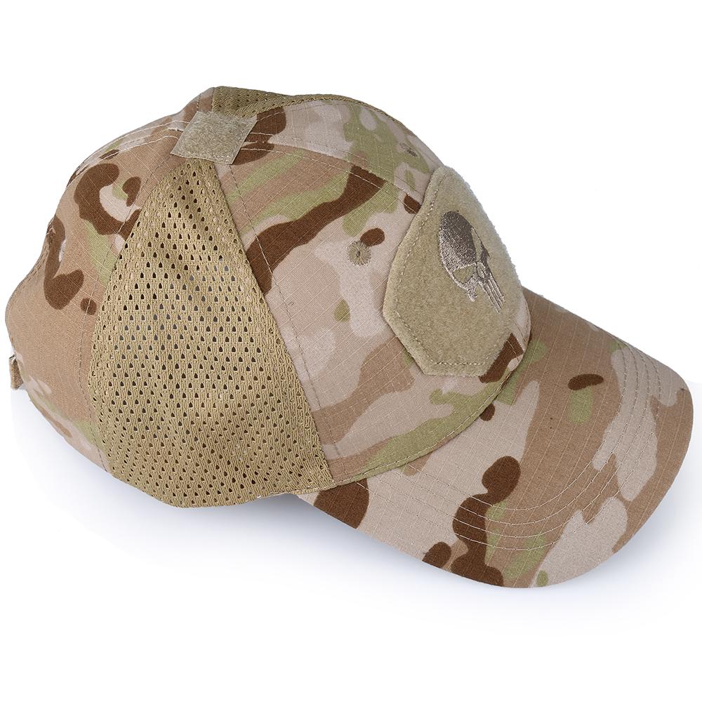 Skull Tactical Military Airsoft Cap Adjustable Breathable Sun Visor Trucker Hat Mesh Hunting Hiking Baseball Skeleton Snapback 38