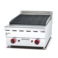 Sot 150 Stainless Steel Barbecue Gas Lava Rock Grill Commercial Gas Oven |rock grill|grill lava rockgas grill rocks -