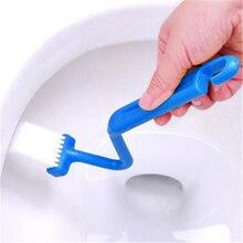 Удобная изогнутая Профессиональная щетка для унитаза, щетка для чистки ванной комнаты, бытовая оконная щетка, очиститель
