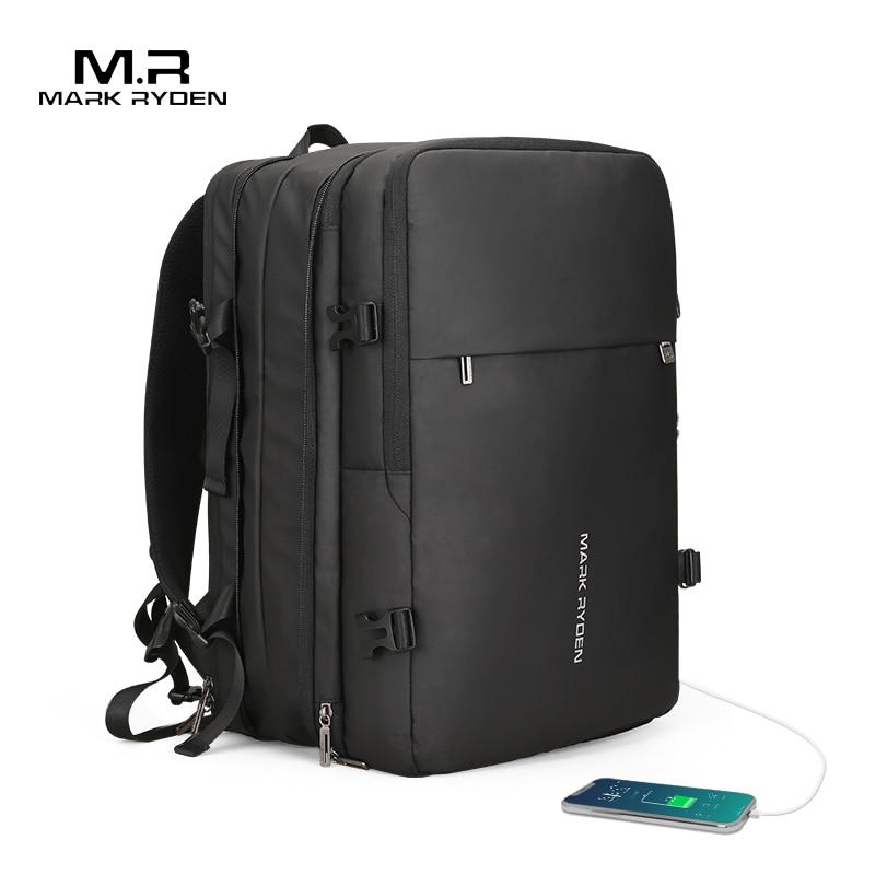 Mark Ryden homme sac à dos Fit 17 pouces ordinateur portable USB recharge multi-couche espace voyage homme sac Anti-voleur Mochila - 3