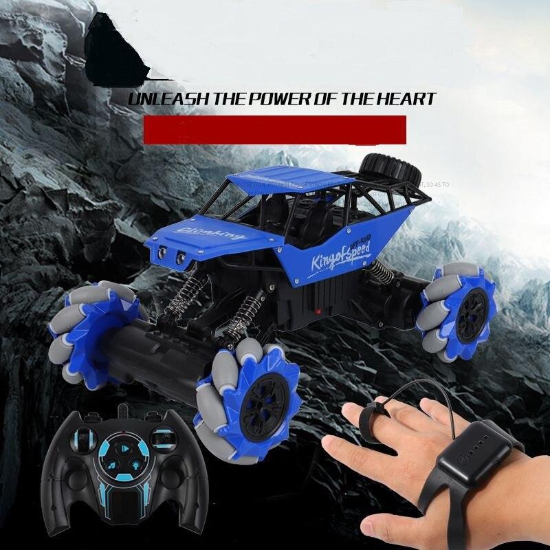 2.4G Gesture Sensing Stunt Remote Control RC Car Children's Light Music Twisting Car Deformation Climbing Off-road Vehicle Model