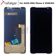 Orijinal yeni AMOLED ekran için Asus ROG telefon 3 ZS661KS için LCD ekran dokunmatik ekran Digitizer meclisi ASUS ZS661KS LCD