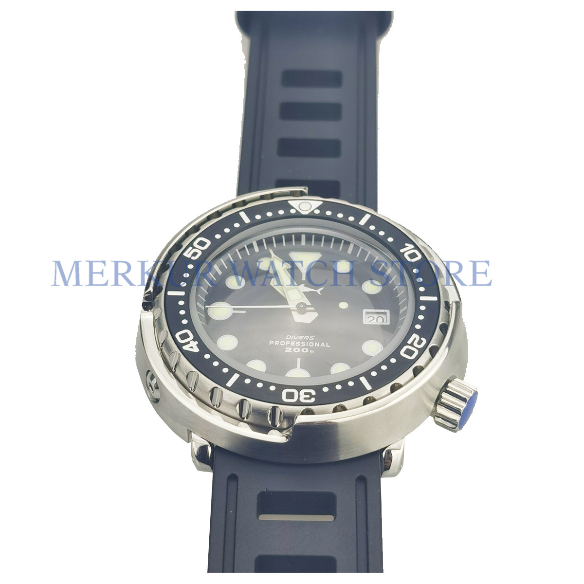 AD30 Sharkey Diver Watch Automatic Marine Master Mens Tuna Can image