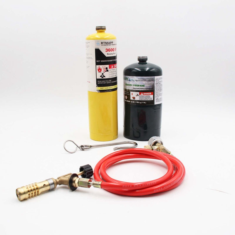 Tools : for Mapp Gas Turbo Torch Plumbing Turbo Torch with Hose for Solder Propane Welding Kit