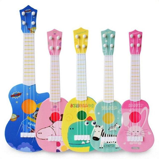 1pc Kids Funny Ukulele Musical Instruments Kids Guitar Montessori Toys for Children School Play Games Education Boys Girls 6