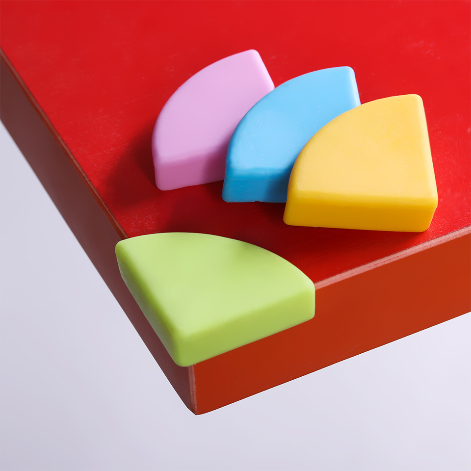 4pcs Baby Safety Corner Protectors Child Table Desk Edge Soft Silicone Cover