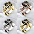 Мужское кольцо в готическом стиле, в стиле панк