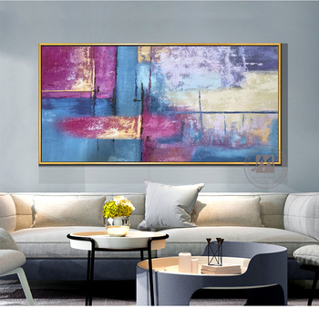 Modern art painting large wall art canvas pictures wall paintings handmade oil painting for living room horizontal one piece
