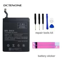DCTENONE Phone Battery BM36 For Xiao mi Mi 5S MI5S Genuine Phone Battery + Tools 3180mAh недорого