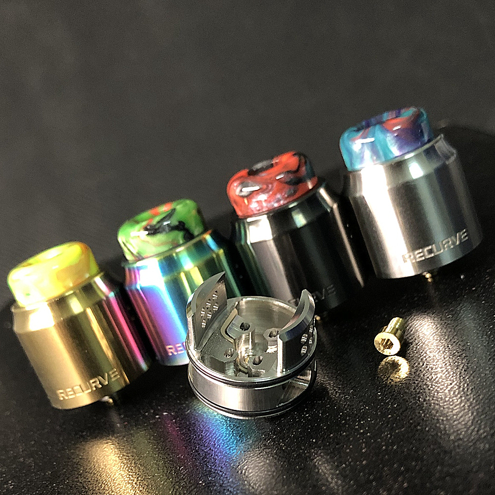 RELOAD X Style Recurve RDA Atomizer 24mm Rebuildable Drop Dripper Tank With Squonk BF PIN For 510 S Electronic Cigarette
