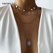 Чокер ingesightz женский многослойный ожерелье с кулоном в виде