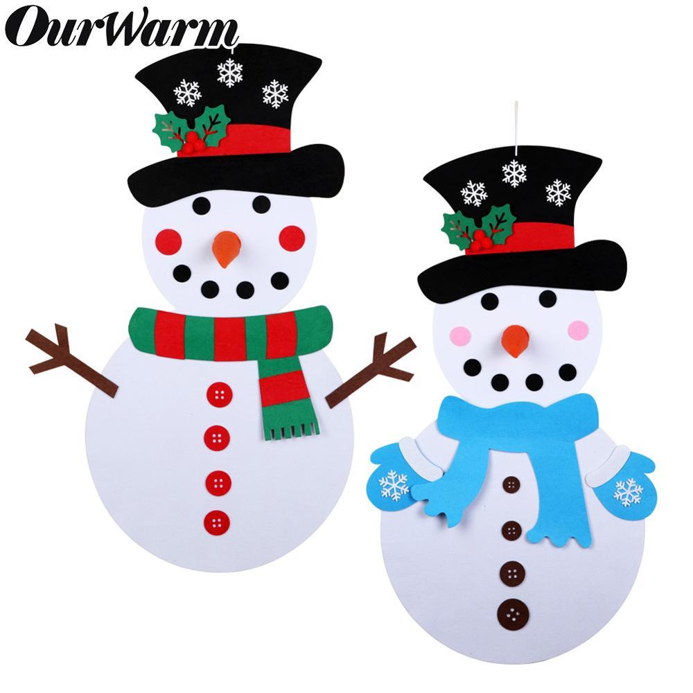 DIY Felt Snowman 1