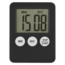 Temporizador quadrado digital lcd 1pc 7 cores, relógio magnético tela lcd com contagem regressiva