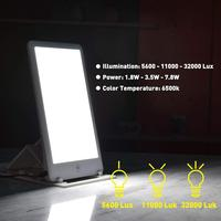 110V/220V SAD Phototherapy Light Bionic Daylight Affective Disorder USB LED Lamp Therapy Adjustable Relief Listless Fatigued