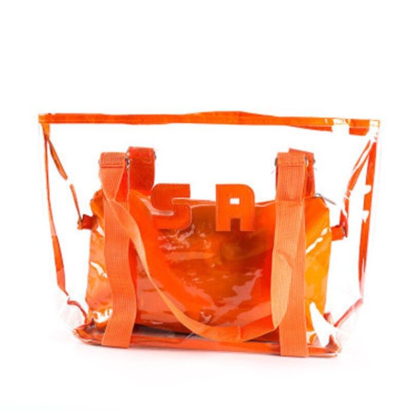 pvc transparente saco grande capacidade impermeavel sacola de compras viagem diaria praia mpwell